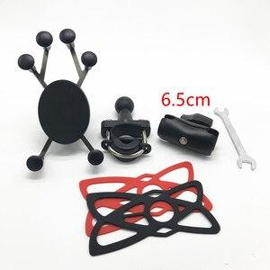 Image 5 - 汎用品質プラスチックオートバイハンドルバーレールマウントx携帯電話スマートフォンホルダーiphone