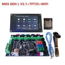 MKS GEN L 2.1 MKS mainboard WI FI módulo display lcd TFT 35 TFT35 MKS controlador de unidade de controle da impressora suite 3D starter kit diy