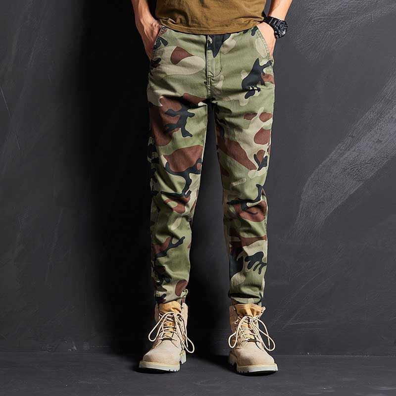 De Moda Camo Corredores Pantalones Casuales De Los Hombres Taper Fit Militar Ejercito Pantalones Cargo Hombre Ropa Pantalones Informales Aliexpress