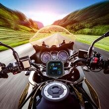 Display LCD di ricarica USB accessori per pneumatici Moto Wireless TPMS Moto pressione dei pneumatici sistema di allarme per il monitoraggio della temperatura dei pneumatici
