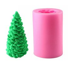 3D Christmas Tree Silicone Candle Soap Fondant Mold Cake Chocolate Decorating Baking Mould Tool Craft silicone soap mold craft 3d shoes shape diy handmade soap candle chocolate mould decorating tools
