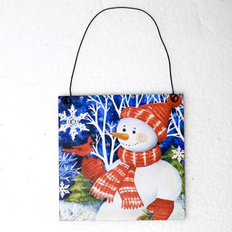 Рождественские деревянные подвесные украшения, поделки из дерева, рождественские украшения, елочные украшения - 4