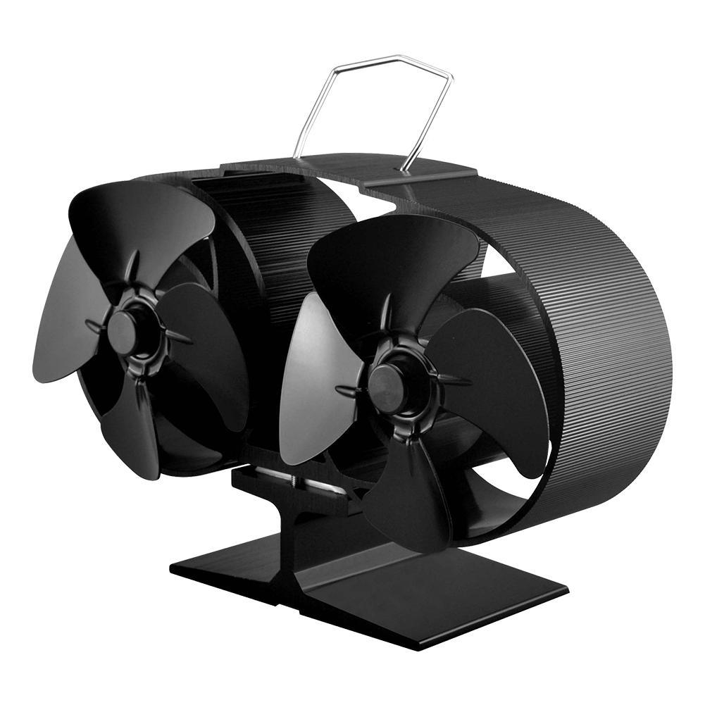 2020 New Hot Power Heat Furnace Fireplace Fan Heating Fan Heat Powered Stove Fan Home Decorative Fireplace Biokominek Fan