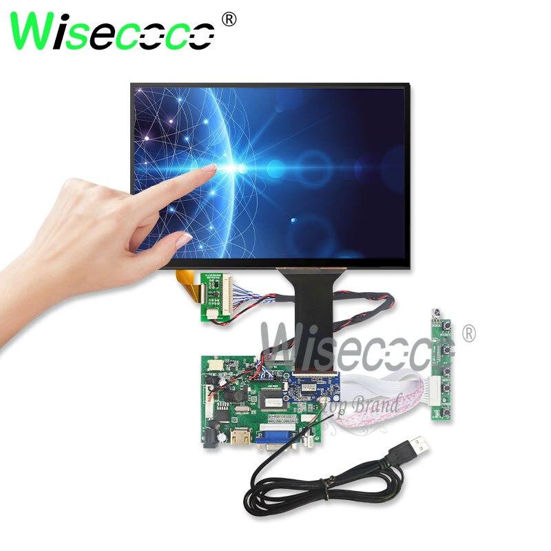 10.1 Polegada 1280*800 ips 450 lêndeas toque lcd kit suporte win7 8 10 raspberry pi android linux equipamentos industriais 10 dedos toque