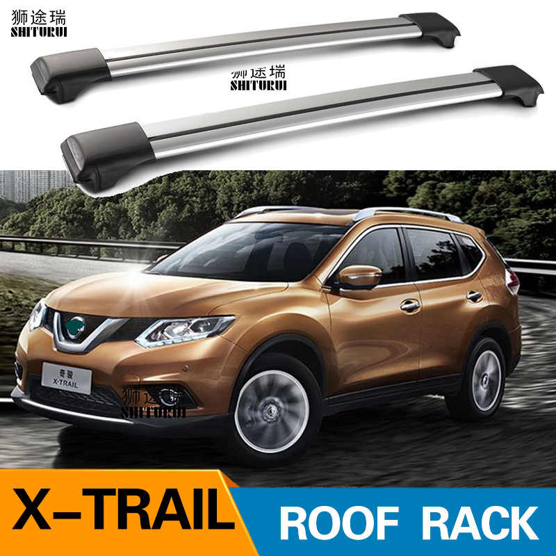 2pcs roof bars for nissan x trail 2013 2020 xtrail t32 suv aluminum alloy side bars cross rails roof rack luggage carrier