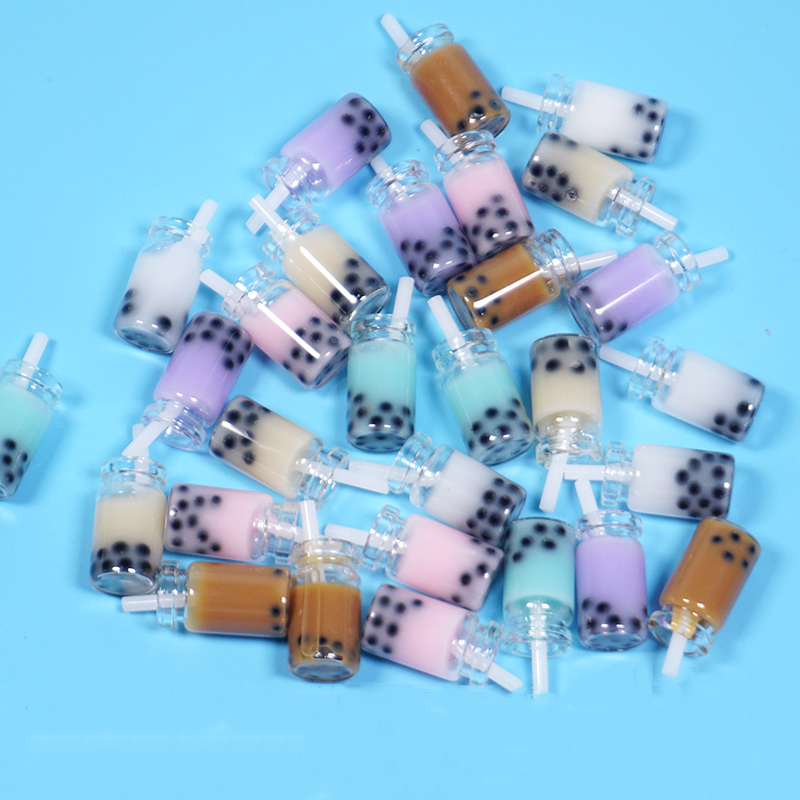 Happy Monkey 10pcs Boba Slime Charms Resin Cute Bubble Milk Tea Bottle  Additives Kit DIY Decor For Fluffy Clear Crunchy Slime