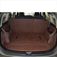 lsrtw2017 for kia carens luxury leather car trunk mat cargo liner 2006 2007 2008 2009 2010 2011 2012 2013 Rondo luggage boot rug overe 1set car cargo rear trunk mat for toyota corolla e140 e150 2007 2008 2009 2010 2011 2012 2013 anti slip mat accessories