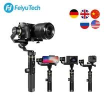 Feiyutech g6 plus 3-axis g6p handheld cardan estabilizador para câmera mirrorless gopro telefone inteligente carga útil 800g feiyu g6p