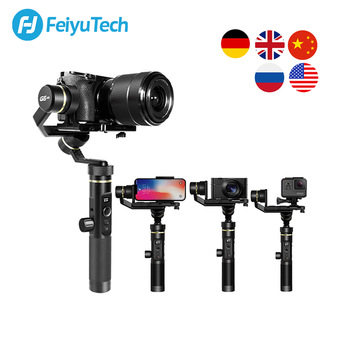 FeiyuTech G6 Plus 3-Axis G6P Handheld Gimbal Stabilizer for Mirrorless Camera GoPro Smart phone Payload 800g Feiyu G6P handheld gimbal adapter switch mount plate for gopro 6 5 4 3 3 yi 4k camera for dji osmo for feiyu zhiyun smooth q gimbal