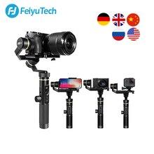 FeiyuTech G6 Plus 3 Axis G6P مثبت انحراف محمول باليد لكاميرا عديمة المرآة GoPro تحميل الهاتف الذكي 800g Feiyu G6P