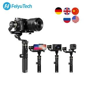 Image 1 - FeiyuTech G6 Plus 3 Axis G6P مثبت انحراف محمول باليد لكاميرا عديمة المرآة GoPro تحميل الهاتف الذكي 800g Feiyu G6P