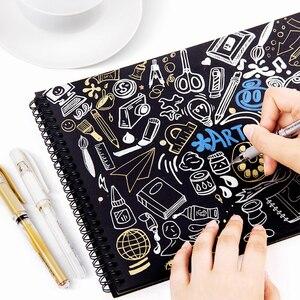 Image 5 - 10pcs/lot Uni Gel Pen UM 153 Gold Silver White Paint Pen Wedding Conference Hand painted Signature Pen 1mm