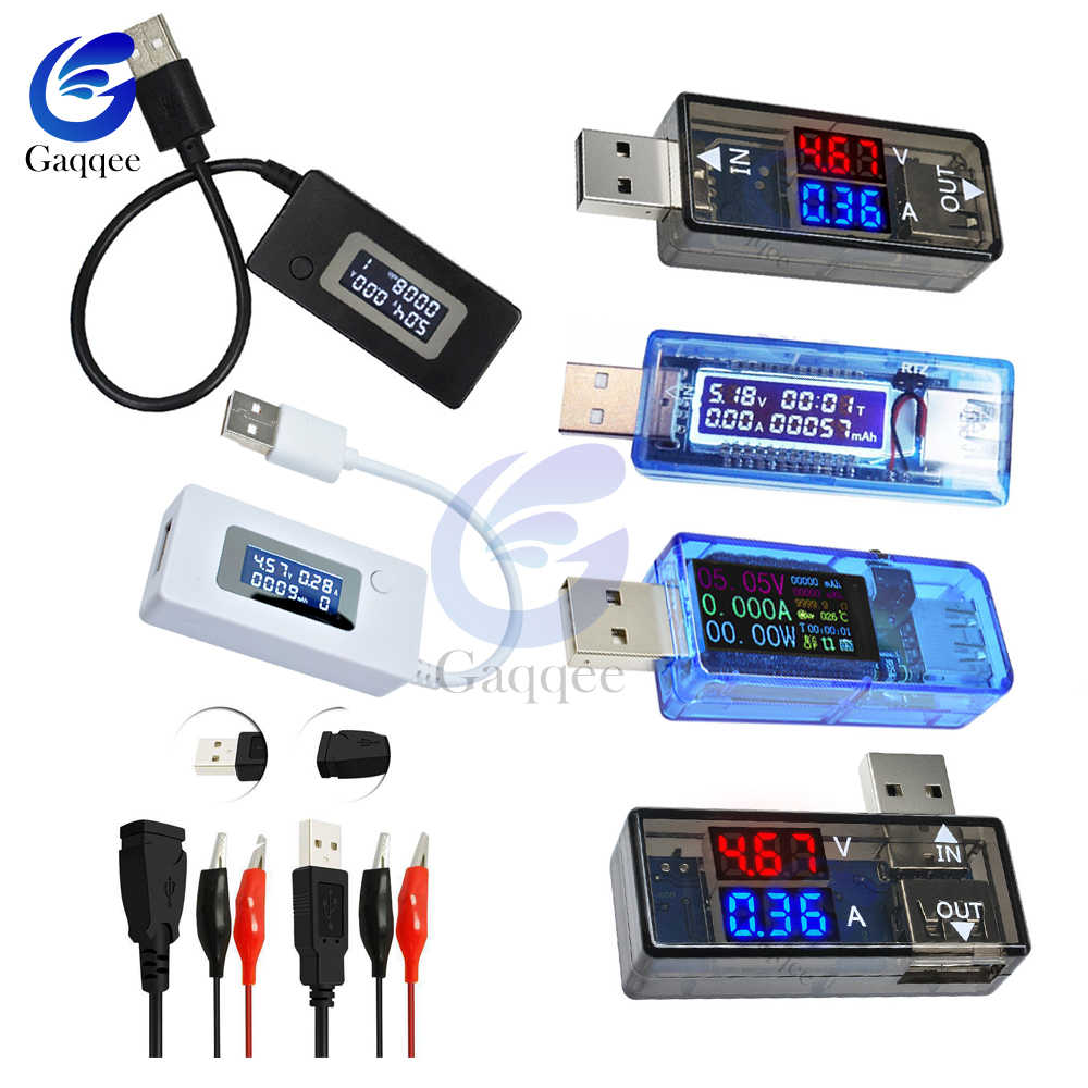 USB Tester di CC Digital Voltmetro LCD di Tensione di Corrente del Caricatore Capacità Tester Amperometro Rilevatore di Accumulatori e caricabatterie di riserva Indicatore di carica USB