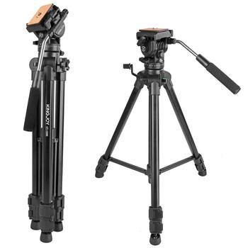 Video Tripod with Fluid Head, Heavy Duty Camera Tripod Travel Tripod Aluminum Compatible for DSLR SLR Nikon Canon Sony Camcorder фото
