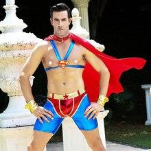 Nova chegada super herói trajes masculinos masquerade super homem cosplay festa de halloween mostrar cosplay trajes de super herói para adultos 6610