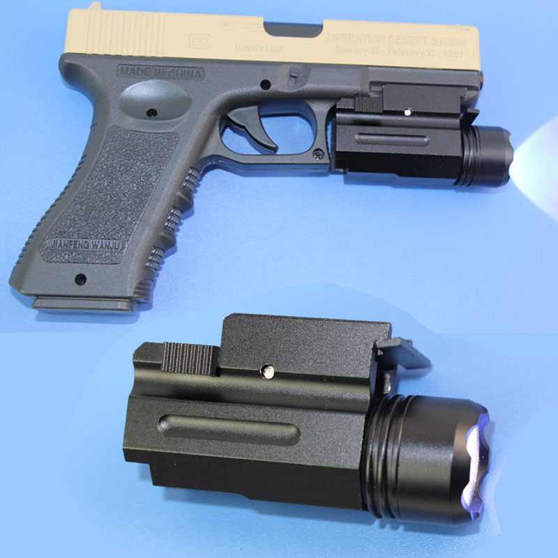 Airsoft LED Gun Flash Light for 20mm Rail Glock 17 19 18C Beretta Shadow cz75 Torch Flashlight Rifle QD Hunting Accessories