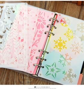 24 шт., трафареты для дневника A6 с объемными листьями, DIY креативный почерк, трафарет, многоразовый блокнот с декором, шаблон для творчества