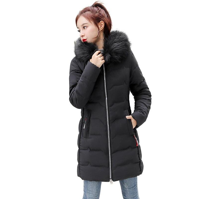 Women Winter Jackets Long Warm Coat Female Jacket Fur Collar 2019 Ladies Parka Abrigos Mujer Invierno