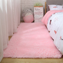 Pink Carpet For Girls Shaggy Children's Floor Soft Mat Living Room Decoration Teenager Nordic Red Fluffy Large Size Rugs