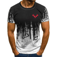 Camiseta de impressão 3d masculina, camiseta masculina de manga curta, camiseta de verão de pescoço redondo, camiseta casual de