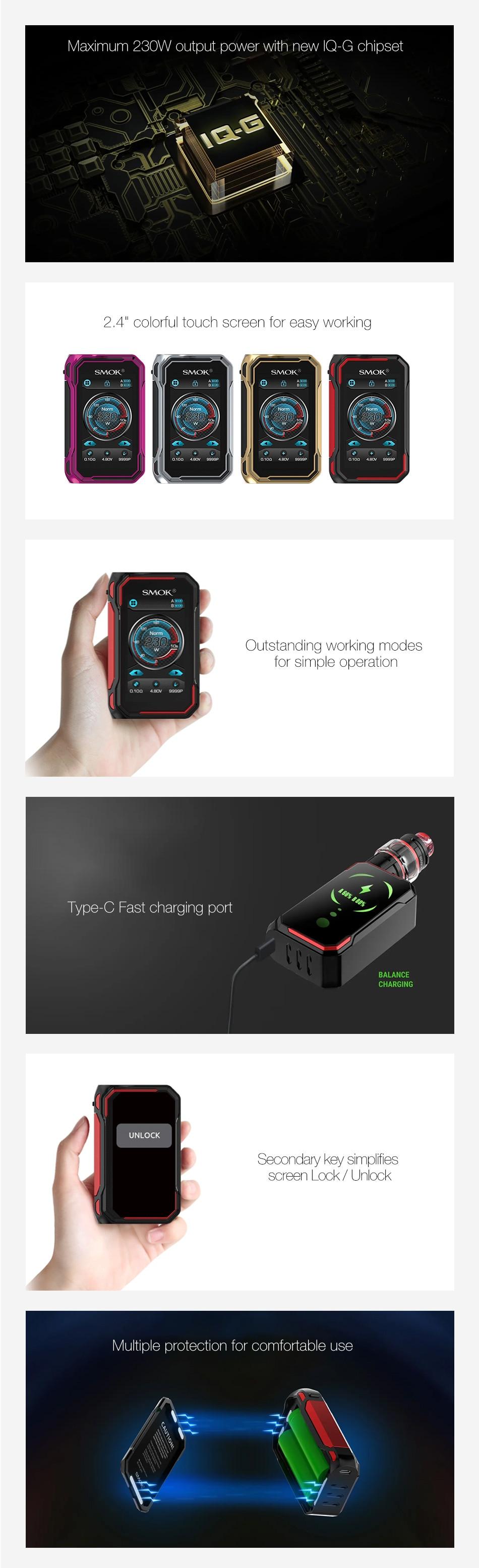 SMOK G-PRIV 3 230W Touch Screen TC Box MOD