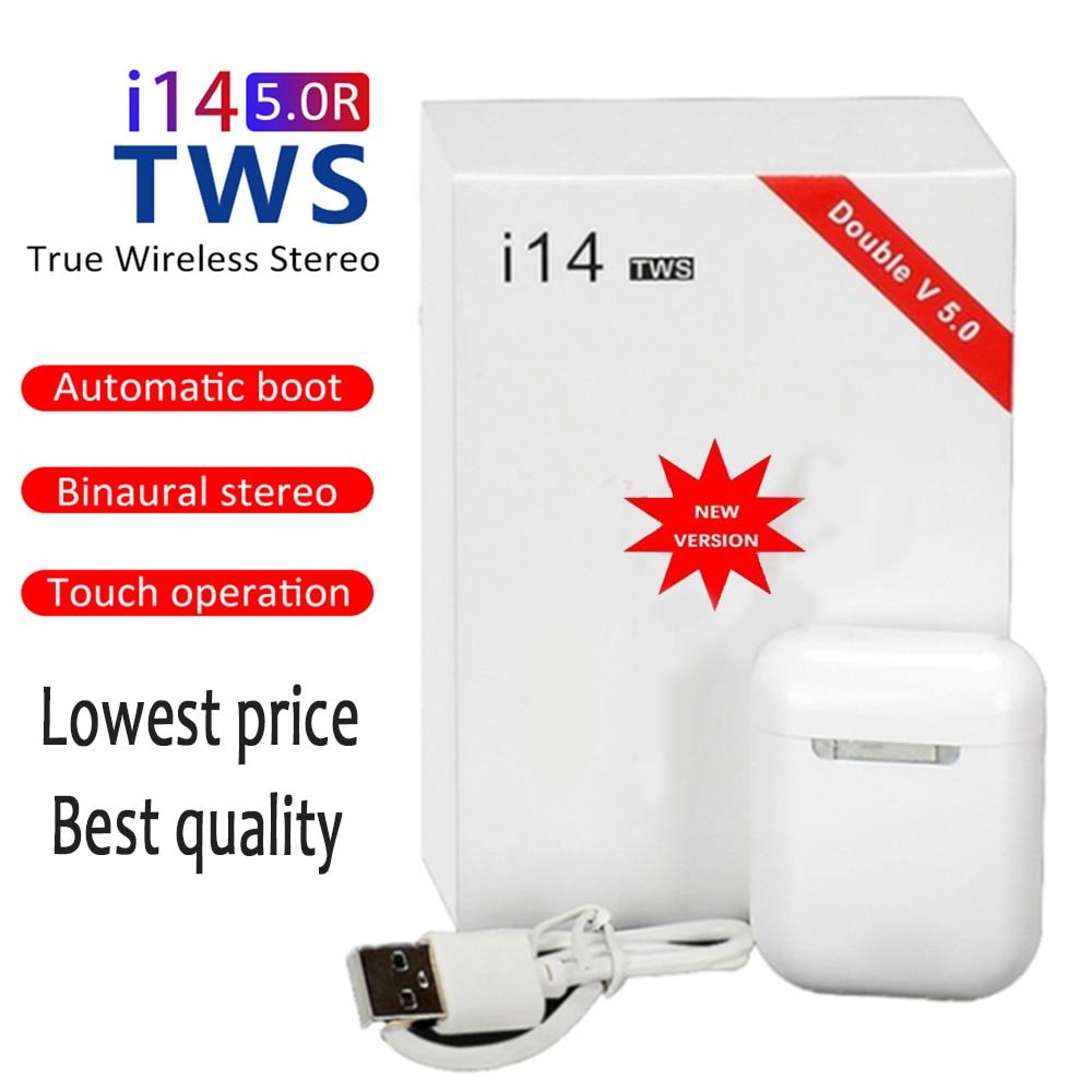 2020 Original i14 TWS Wireless Earphones Bluetooth Headset Invisible Earbuds for Smart Phone PK i7 i12 i13  i7s i11 i20 i100