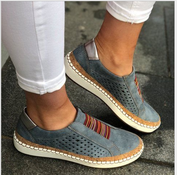 Women Flats Autumn Leather Women Shoes Flat Casual Ladies Slip On Loafers Cow Driving Shoes Footwear 35-43