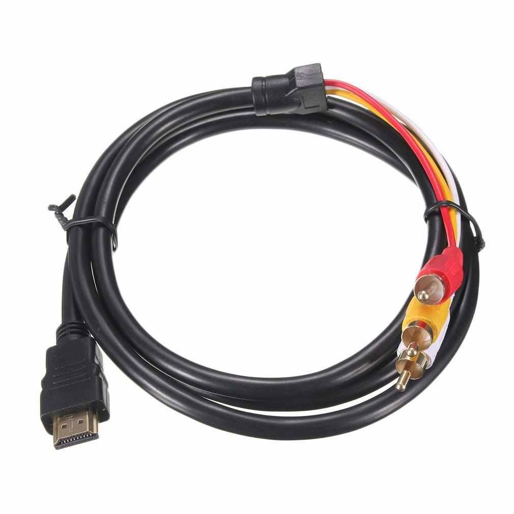 5 stóp 1080P HDTV HDMI męski na 3 RCA Audio wideo kabel AV Adapter przewodu złącze konwertera kabel komponentowy przewód do HDTV nowość