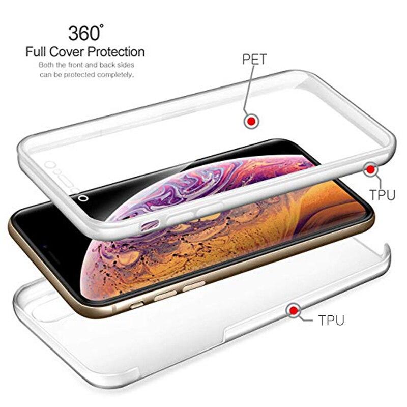 360 двойной полный противоударный чехол для телефона для Xiaomi Redmi Note 5, 6, 7, 8, 8T 9 9S Pro S2 5A 6A 7A 8A 9 K20 K30 Pro Прозрачная крышка корпус Coque