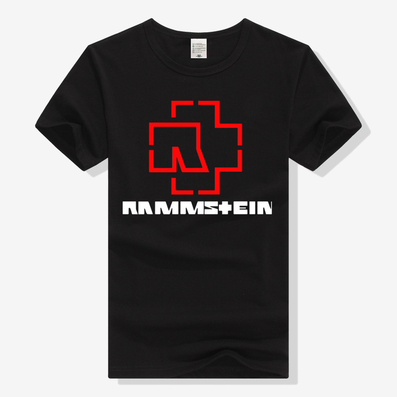 Clothing Germany Tank Rammstein Metal Rock And Roll Band Short Sleeve T-shirt Men And Women Couple Clothes