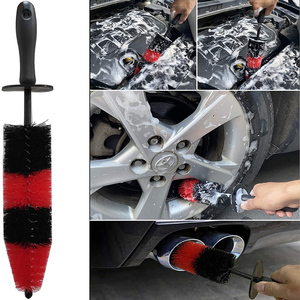 Image 4 - 8Pcs Rad Reifen Reinigung Pinsel Kit 17 zoll Lange Weiche Rad Pinsel 5 Detaillierung Pinsel Kurzen Griff Reifen Pinsel und Mikrofaser Tuch