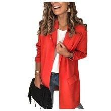 Женское пальто с длинным рукавом однотонное свободное приталенное