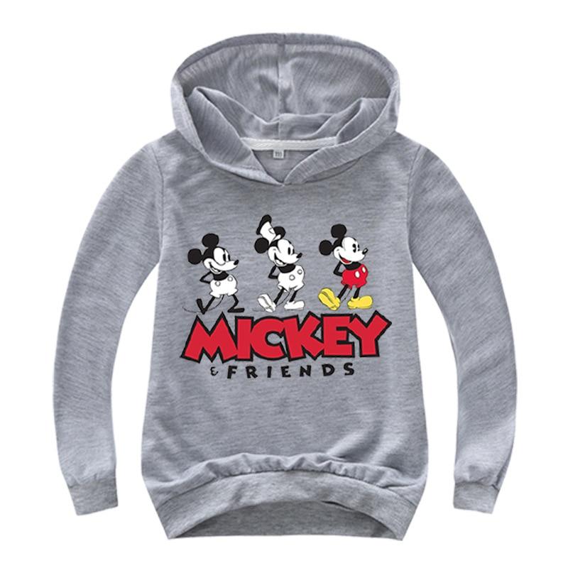 New Autumn Mickey Minnie Mouse Boys Girls Casual Sweatshirt Kids Hoodies Long Sleeve Sweatshirt Children Clothes