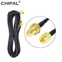 CHIPAL – Câble d'extension fil d'alimentation pour antenne, fil d'alimentation, carte de réseau, routeur, avec embout mâle à femelle, en cuivre, coaxial, wifi, 6m 9 m, RG174 SMA