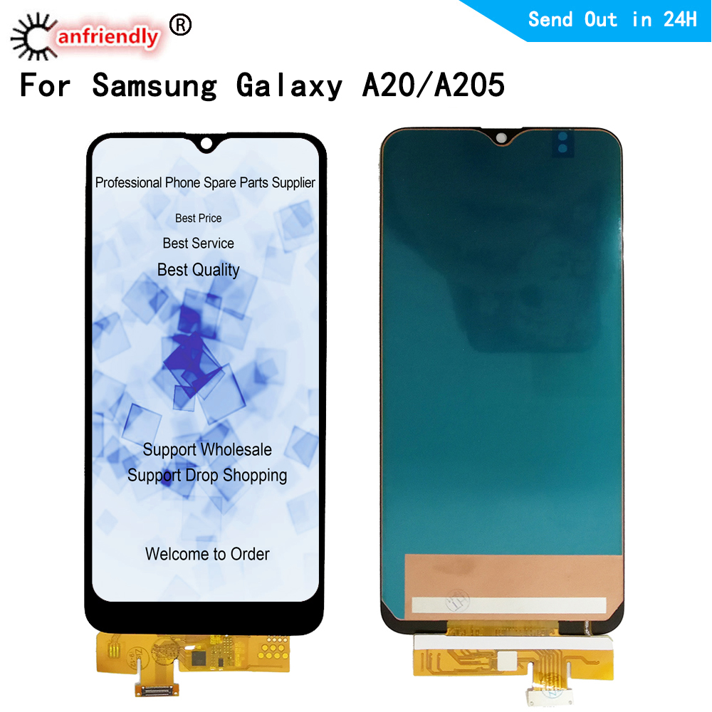 <font><b>LCD</b></font> Display For <font><b>Samsung</b></font> <font><b>Galaxy</b></font> <font><b>A20</b></font> A205 SM-A205F A205G A205U A205W A205YN <font><b>A20</b></font> <font><b>LCD</b></font> display Screen Touch panel Digitizer Assembly image