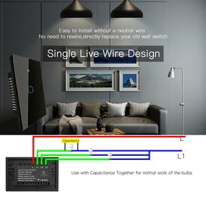 Image 2 - Interruptor táctil de pared inteligente RF433 WiFi, sin cable neutro, funciona con Alexa, Google Home, 170 250V