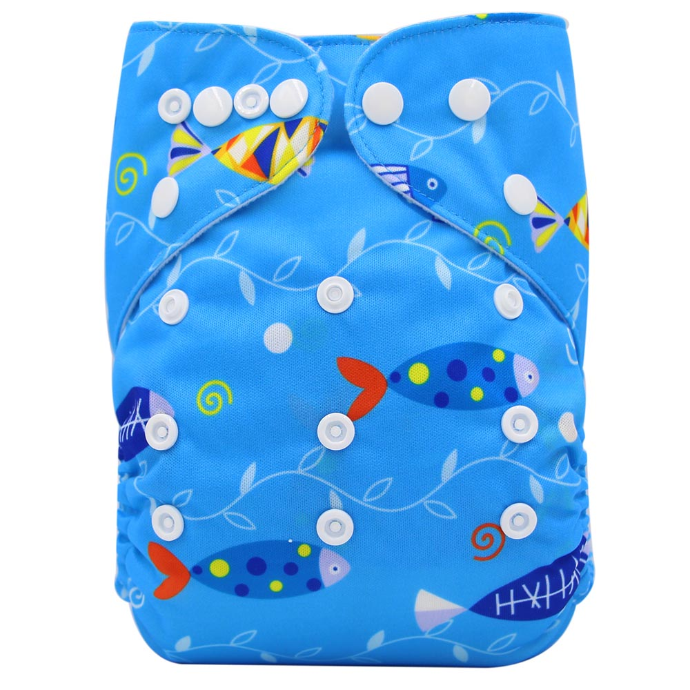 Ohbabyka Cloth Diapers Baby Washing Diapers Unicorn Animals Print Couche Lavable Potty Training Pants Suede Waterproof Diapers