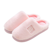 купить Slippers Women 2019 Indoor House Plush Soft Cute Cotton Slippers Shoes Non-slip Floor Home Slippers Women Slides For Bedroom по цене 798.51 рублей