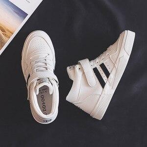 Image 5 - Soprts baskets confortables, antidérapantes, chaussures montantes à lettres Motion, chaussures vulcanisées pour femmes, nouvelle collection printemps 2020