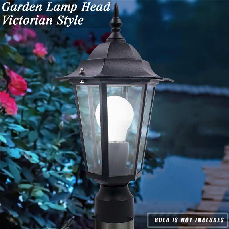 Black E27 Outdoor Garden Decoration Street Light Lantern Lamp Head For Plaza Garden Yard AC110-220V