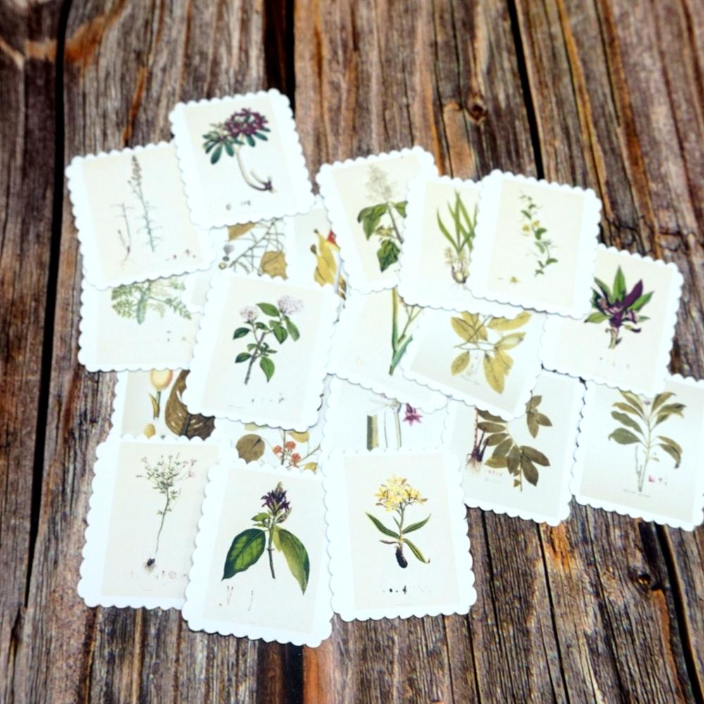 22PCS Plant Collection Decorative Waterproof Stickers Scrapbooking Diary Diy Album Stationery Sticker Kids Student Gift Stickers