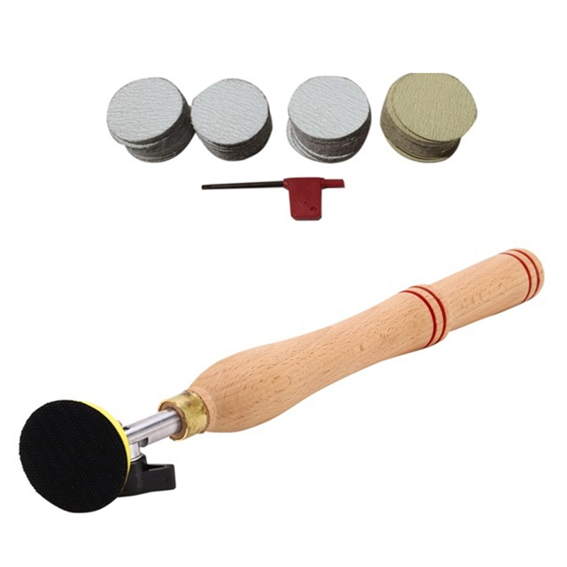 New Sale 52 Pieces Wood Bowl Sander Sanding Tool with Sanding Disc for Lathe Wood Turning Tool Woodworking