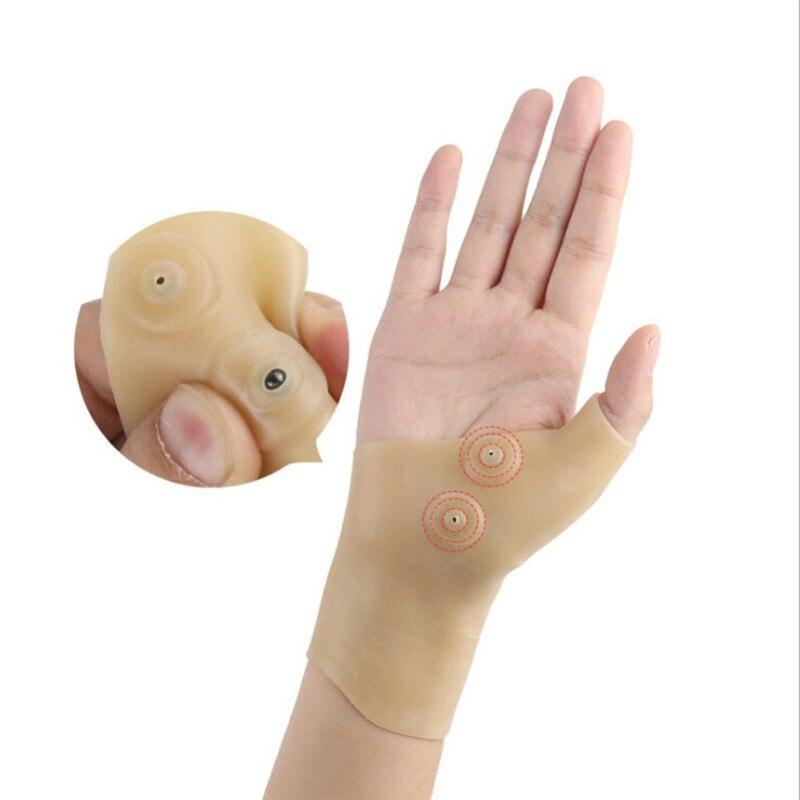 Nueva terapia magnética muñeca Gel rodillera para tendinitis silicona guante de pulgar soporte Corrector para la artritis de la mano Mejora la muñeca de Antipérdida para niños con bloqueo, pulsera para bebés pequeños, correa para niños, arnés de seguridad, correa para caminar al aire libre, cuerda