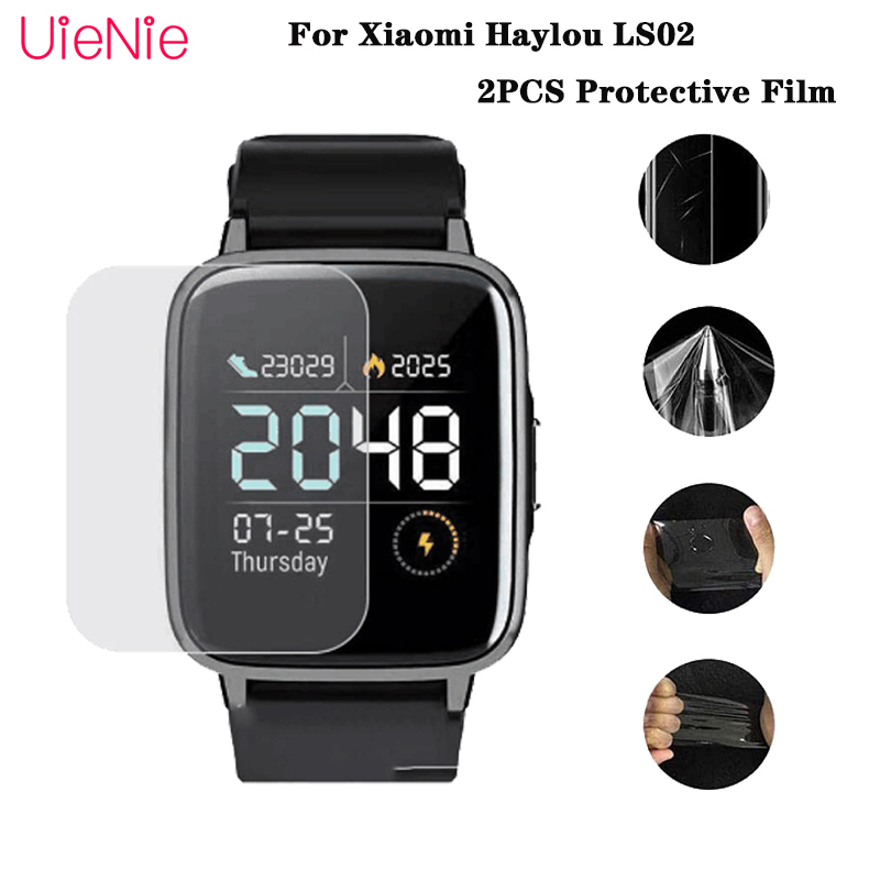 2PCS TPU Protective Film For Xiaomi Haylou LS02 Smart Watch Protector Film For Xiaomi Haylou LS02 Watch Screen Protector Cover