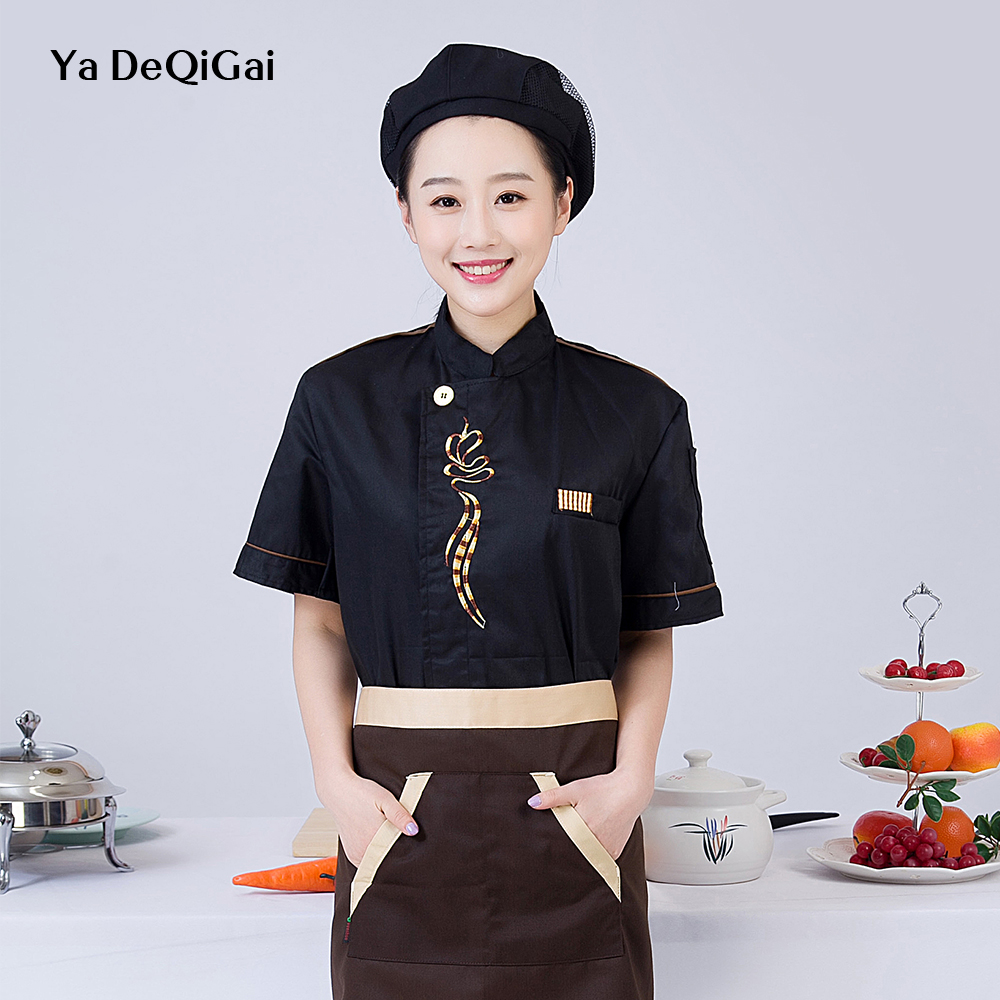 Breakfast Hot Pot Shop Chef Restaurant Uniform Wholesale Machining Housewife Breathable Chef Shirts Sushi Costume Hotel Uniform