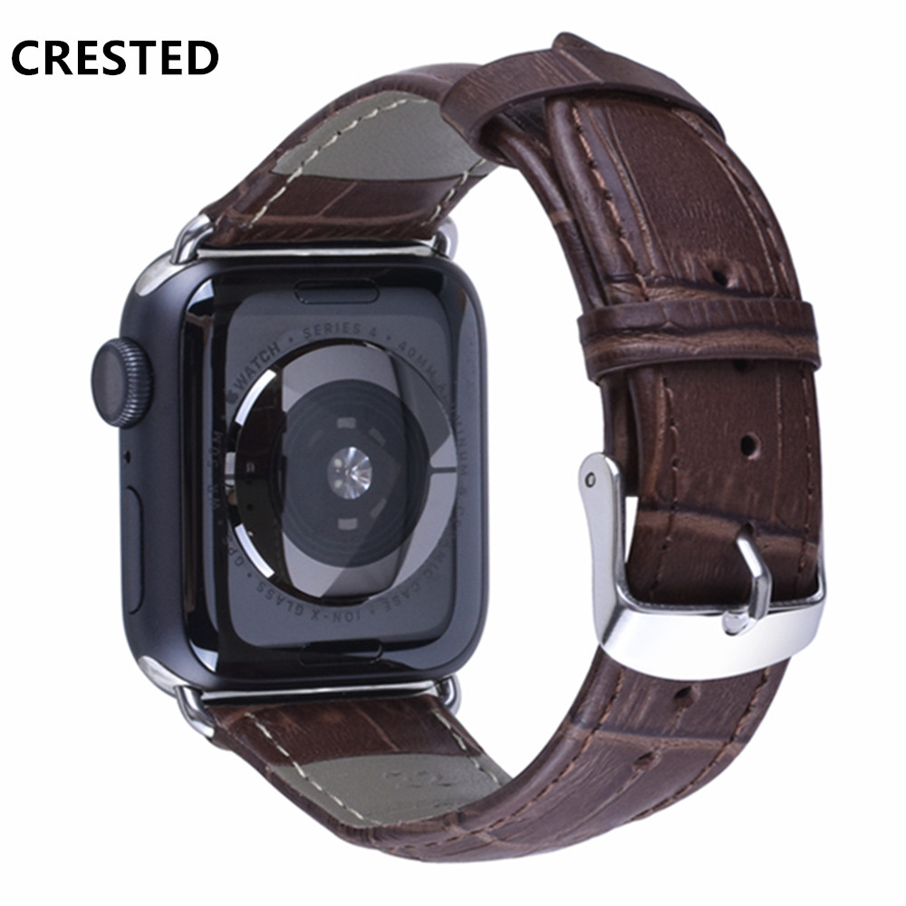 Leather strap For Apple Watch band apple watch 5 4 3 band 44mm/40mm correa iwatch 5 4 3 42mm/38mm Bamboo Bracelet watchband belt | Watchbands