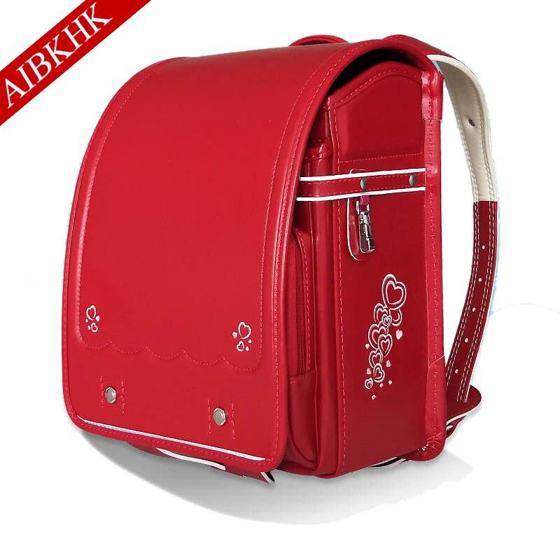 Bag For Girls Boys Children School Book Bag Printing Orthopedic Schoolbag Backpack For School Randoseru Students Bookbag