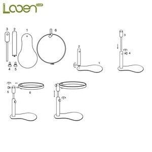 Image 5 - Looenเย็บปักถักร้อยเย็บปักถักร้อยStand Hoopไม้เย็บปักถักร้อยและCross Stitch Hoopชุดแหวนกรอบปรับเย็บเครื่องมือ1Pc