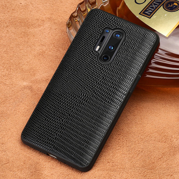 Original Lizard Grain Leather Phone Case For Oneplus 8T 8 Pro 8 Nord 7T 7 Pro 6 6T 5 5T 6T One Plus 360 Full Protective Cover