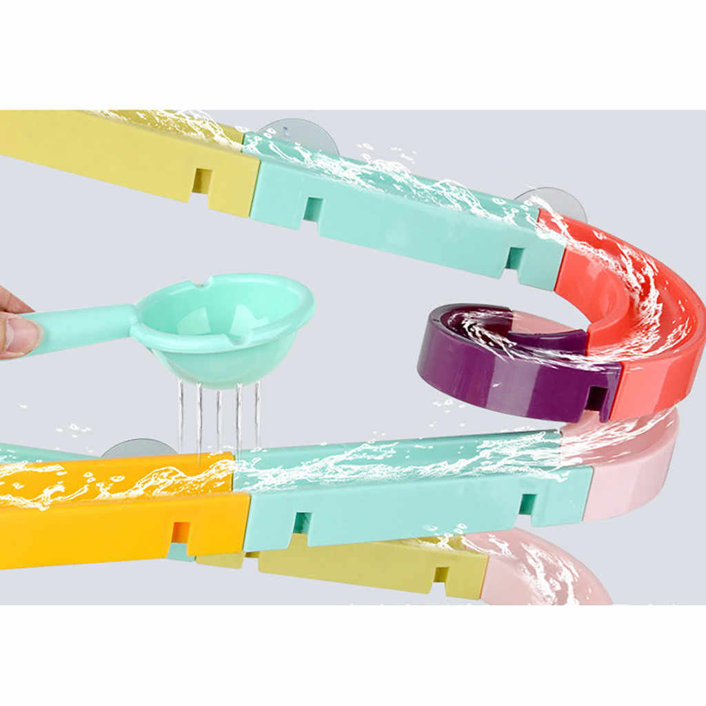 Детские Игрушки для ванны на присоске, мраморные гоночные орбиты, трек для детской ванной, ванна, игровая игрушка для воды, Душ, игры, плавательный бассейн, инструменты для ванны